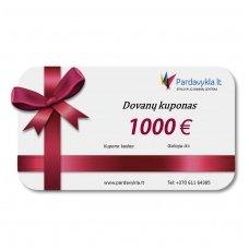 Dovanų kuponas 1000 EUR
