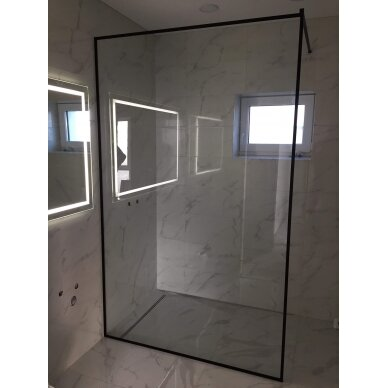 Dušo sienelė LIMA Black Series Frame 4