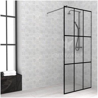 Dušo sienelė LIMA Black Series Frame Plius