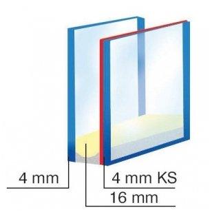Stiklo paketai dviejų stiklų