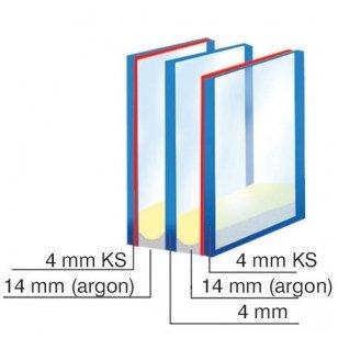 Stiklo paketai trijų stiklų